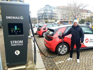 ecar charging at Fetscherplatz - SachsenEnergie